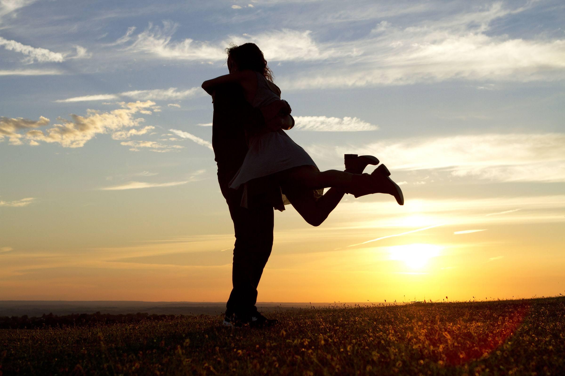 Sunset Happy Couple